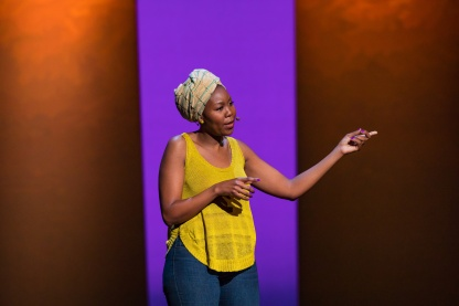 Sisonke Msimang at TEDWomen 2016 - It's About Time, October 26-28, 2016, Yerba Buena Centre for the Arts, San Francisco, California. Photo: Marla Aufmuth / TED